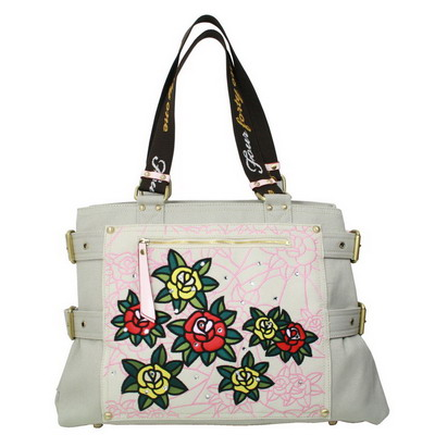 Wings Flower Travel Tote with swaroviski stone